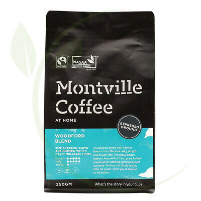 Montville Coffee Woodford Espresso Ground - 250g