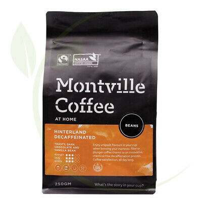 Montville Coffee Hinterland Blend Decaf(Swiss Water) Coffee Beans 250g