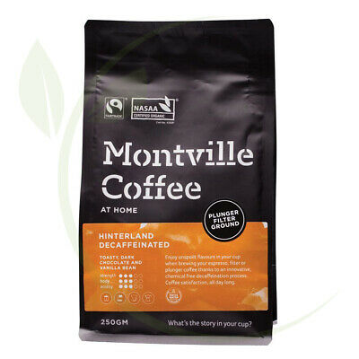 Montville Coffee Hinterland Blend Decaf (Swiss Water) Plunger Ground 250g