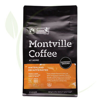 Montville Coffee Hinterland Blend Decaf(Swiss Water) Espresso Ground - 250gm