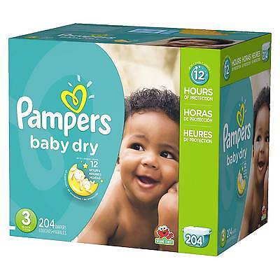 Pampers Baby Dry Diapers Size 3 - 204 Count