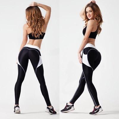 Womens Yoga Gym Trousers Leggings Fitness Jogging Running Workout Pants BS
