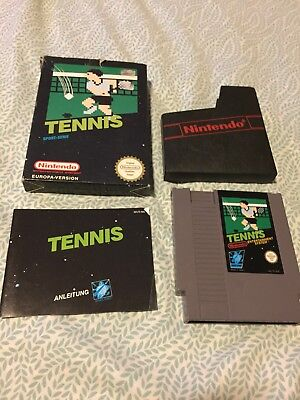 Tennis Nintendo NES German PAL B Complete with Box & Manual Clean