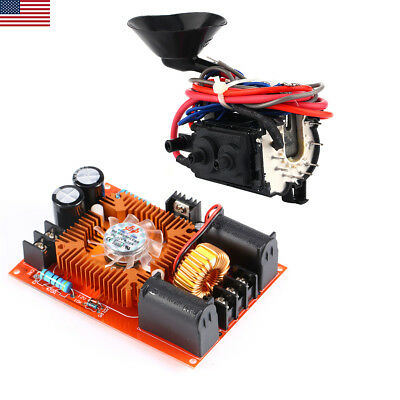 DC 15A-20A ZVS Tesla Coil Drive Power Supply Driver Board + Ignition Coil New US
