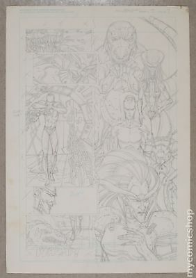 Original Art for Atomic Clones Issue 3, Page 4 by Paris Cullins (Unreleased)