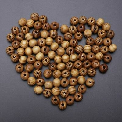 100pcs Brown Wooden Spacers Loose Beads Necklace Bracelets Charms Findings 10mm
