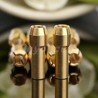 "UK 1/8"" Brass Collet Nut Adapter 3.2mm For Power Rotary Drill Tools 10pcs"