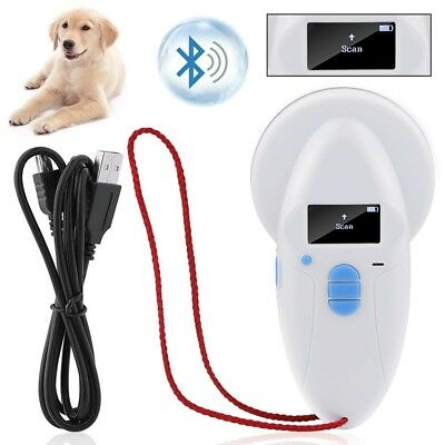 Pro ISO FDX-B Animal Pet Chip ID Reader Microchip RFID Scanner 134.2/125KH White