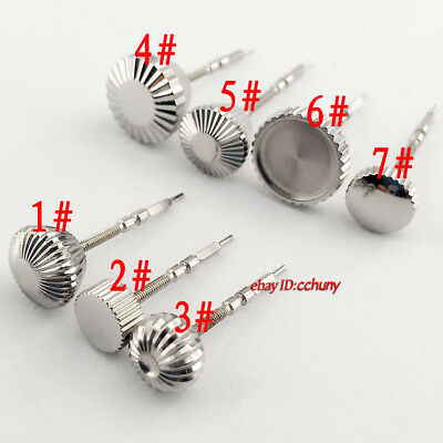 1PCS Stainless Steel Watch Crown+Stem Fit ETA 6497/6498,Seagull ST36 P217