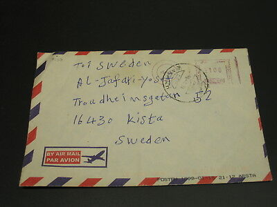 Iraq 1999 meter airmail cover to Sweden *4230