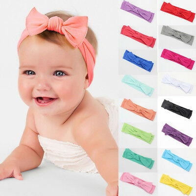 Cute Kid Girl Baby Toddler Bow Headband Hair Band Accessories Headwear Head Wrap
