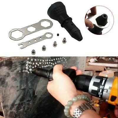 Rivet Gun Adaptor For Cordless Drill Electric Nut Riveter Insert Tool Wrench Set