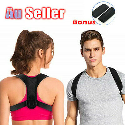 New Body Wellness Posture Corrector Lumbar Belt Back Shoulder Brace Unisex AU