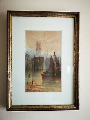Pair of T Montimen original watercolour maritime paintings hand signed & framed