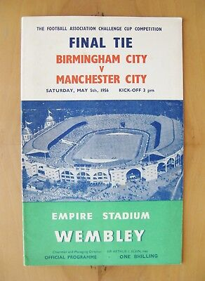 1956 FA Cup Final BIRMINGHAM CITY v MANCHESTER CITY Exc Cond Football Programme