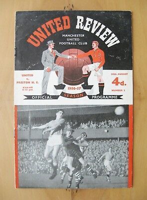 MANCHESTER UNITED v PRESTON NORTH END 1956/1957 *Exc Cond Football Programme*