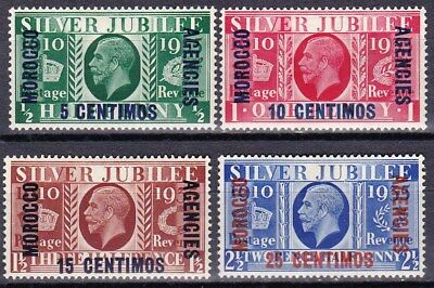 Great Britain - Morocco Offices - Scott 67 - 70 - Complete Mint Set - Look!