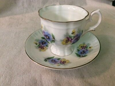 Crown Staffordshire England Cup And Saucer, Fine Bone China,