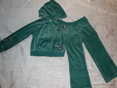 NWT LE TOP Velour Leopard Hooded Top//Ears Pant girls set 18M 24M 2Y 3Y 120344