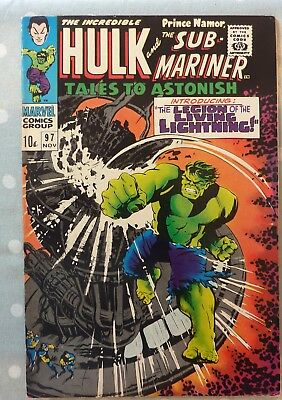 Tales To Astonish 97 Incredible Hulk Namor Silver Age 1967 FN+/VF
