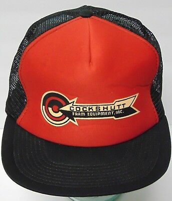 Vintage 1980s COCKSHUTT Farm Equipment Advertising SNAPBACK HAT TRUCKER CAP