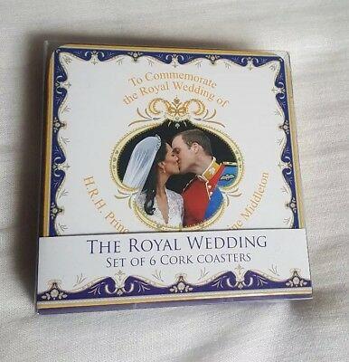 William and Kate The Royal Wedding Set of 6 Coasters