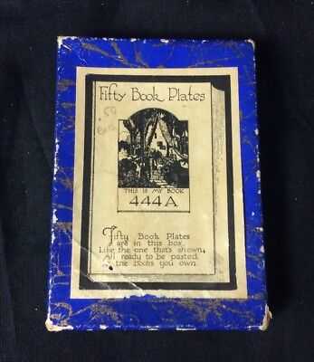 Bookplates This is my Book Tudor House Preowned Engraved Print