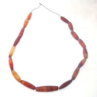 Egyptian Roman Carnealian bead Necklace c. 2nd  century B.C.  to 2nd century A.D