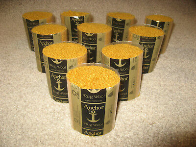 10 packs Anchor gold 6-ply rug wool,formerly Readicut/Homemakers.