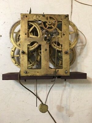 Antique Ray & Ingraham Ogee Clock Movement