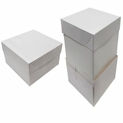 """12"""" Cake Boxes With Full Side Extensions - Bulk Buy - Pack of 25 - UK Supplier"""