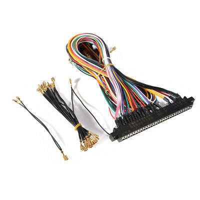 WIRING HARNESS CABLE DIY Parts emble Kit for Arcade Jamma Game Cabinet on