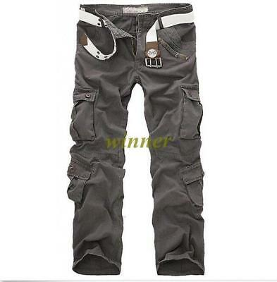 Combat Men's Cotton Blend Cargo ARMY Pants Military Camouflage Camo Trousers Hot