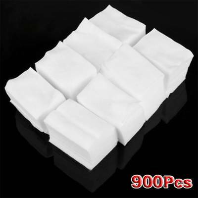 900Pcs Nail Art Soft Wipes Cleaner Nail Polish Remover Cotton Pads for Manicure