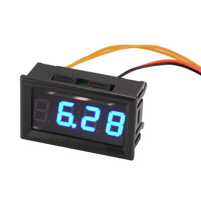 4-bit Blue Onboard Electronic Clock Car LED Digital Date Timer MA1224