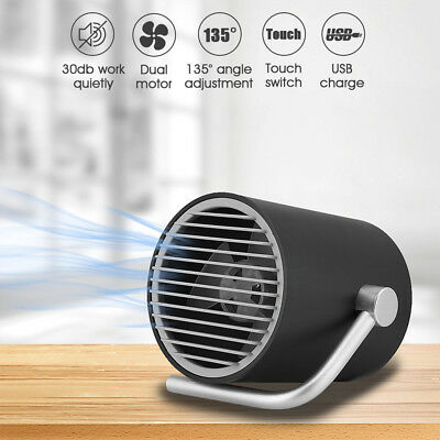 AUGIENB Mini Ultra Quiet Portable USB Cooling Desk Fan Rotatable Touch Control