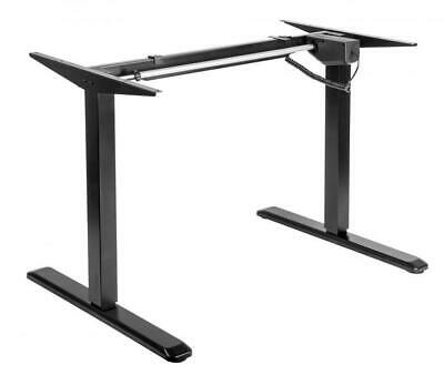 Height Adjustable Electric Motorised Standing Sit Stand Desk Table Office Black