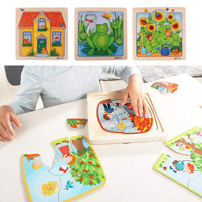 Kids Jigsaws Educational Toys Children Wooden Learning Geometry Puzzle