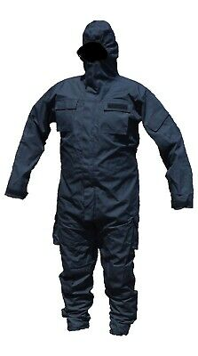 New Black Remploy Civil Responder Peeler Waterproof Coverall Security Army CBRN