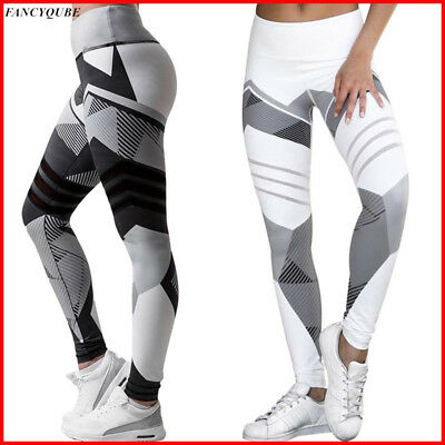 Women Leggings Fitness Sports Gym Exercise Running Jogging Yoga Pants Trouser US