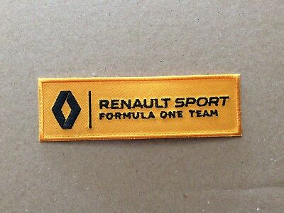A605 // Ecusson Patch Aufnaher Toppa / Neuf / Renault Sport Vintage - 11*3.5 Cm