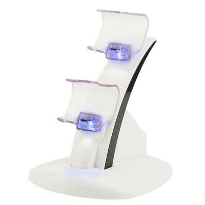 LED Charger Dock Station USB Fast Charging Stand for PlayStation Controller GJ