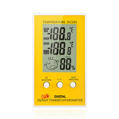 Digital LCD Indoor Outdoor Humidity Hygrometer Thermometer Meter Probe Cable GU