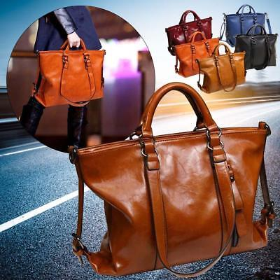Fashion Handbags Lady Shoulder Bags Tote Purse Oiled Leather Women Messenger  GR 81ed0e3f41b4a