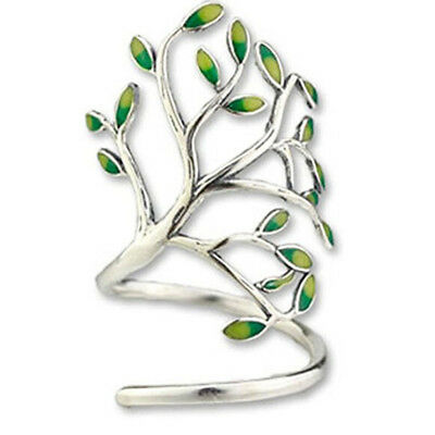 Women Adjustable Ring Charms Olive Tree Branch Leaves Open Knuckle Rings BS