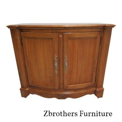 Ethan Allen Legacy Server Bar Liqour Cabinet Console Sideboard Bow Front