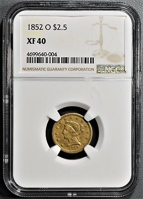 1852-O $2.50 Liberty Gold Coin, Certified By Ngc Xf40  A6567
