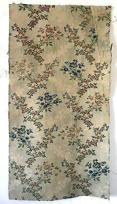 Beautiful Rare 18th C. French Woven Silk Brocade Fabric  (2446)