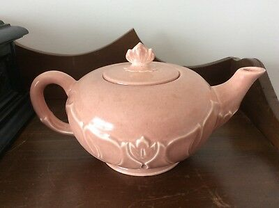 Vintage Steubenville Russell Wright Woodfield Coral TeaPot