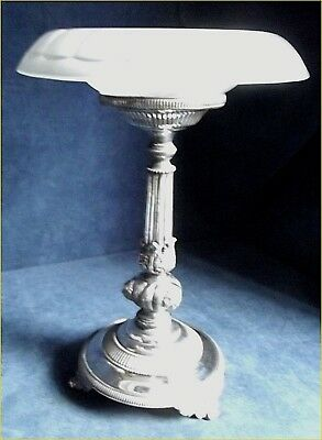 SUPERB Large ~ SILVER Plate & FROST Glass ~ STAND / Tazza ~ c1900 by Benetfink